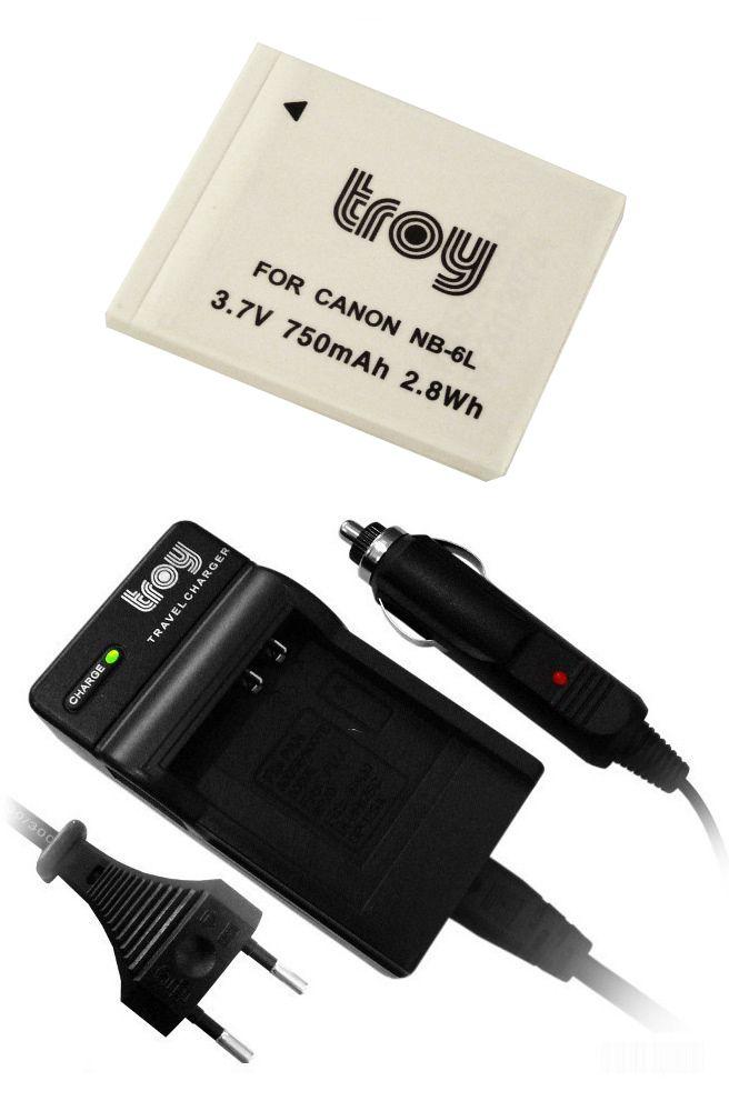 Troy AKKU * %100 Kompatible * Kein Memoryeffekt Akku baugleich mit NB-6L und Ladegerät passend u.a. für: Canon Ixus 85is, Ixus 95is, Ixus 105, Ixus 200 IS, Ixus 210, IXUS 300 HS, IXUS 310HS Canon Powershot D10, S90, S95, SX240 HS, SX260 HS, SX270 HS, SX280 HS, SX500 IS