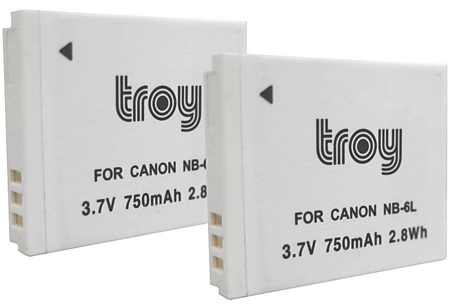 Troy Akku baugleich mit NB-6L passend für: Canon Ixus 85is, Ixus 95is, Ixus 105, Ixus 200 IS, Ixus 210, IXUS 300 HS, IXUS 310HS Canon Powershot D10, S90, S95, SX240 HS, SX260 HS, SX270 HS, SX280 HS, SX500 IS