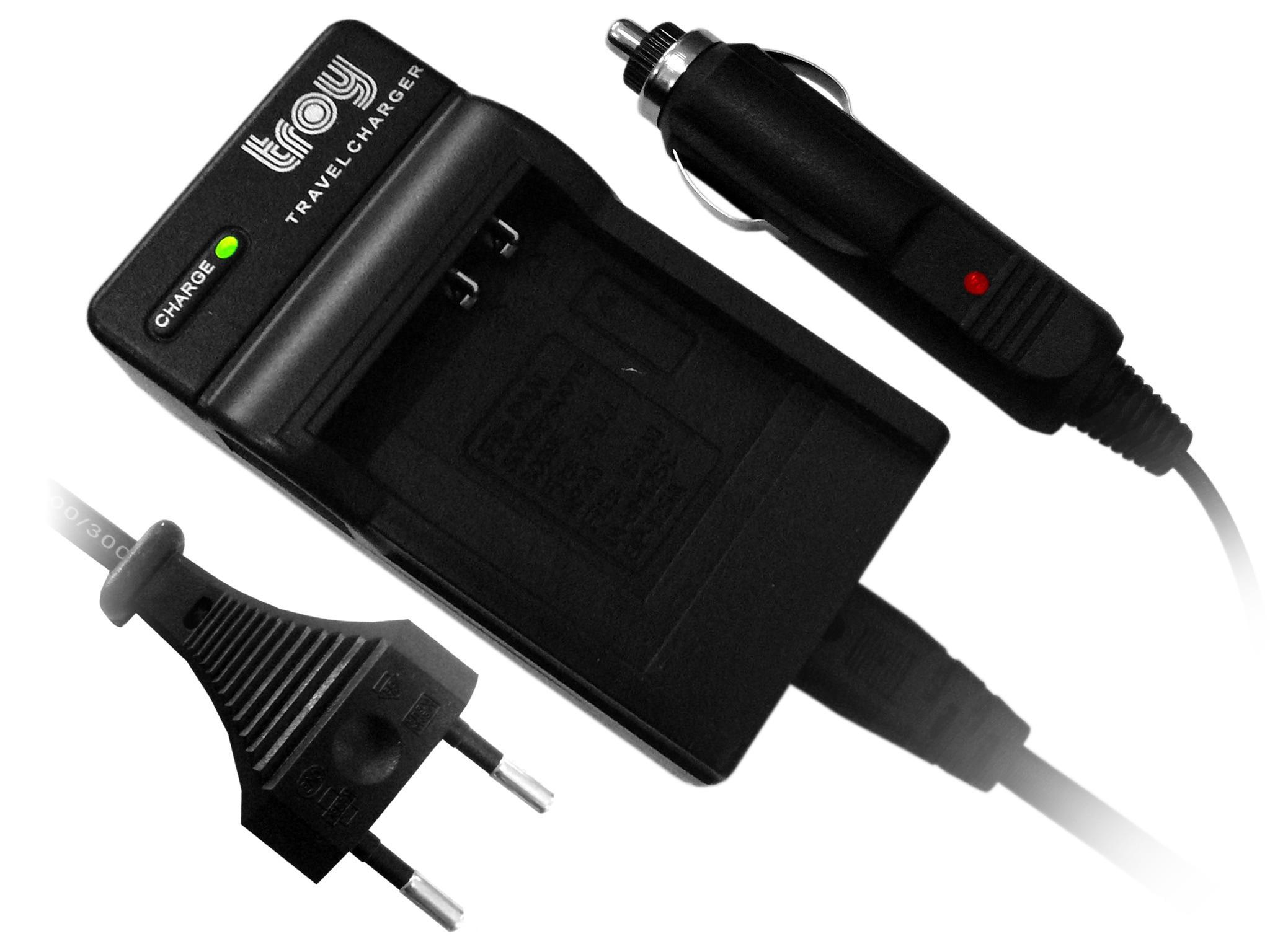 Troy Kompakt-Ladegerät für Panasonic BLH7 passend für Lumix DMC-GM1 DMW-BLH7 DMC-GM5 GF7 DMC-GX800 DMC-LX15 Lumix DMW-BLH7